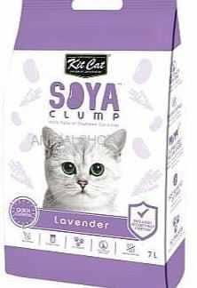 חול מתגבש קיט קט לחתול על בסיס סויה בריח לבנדר 7 ליטר