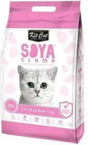 חול מתגבש קיט קט לחתול על בסיס סויה בריח תות שדה 7 ליטר
