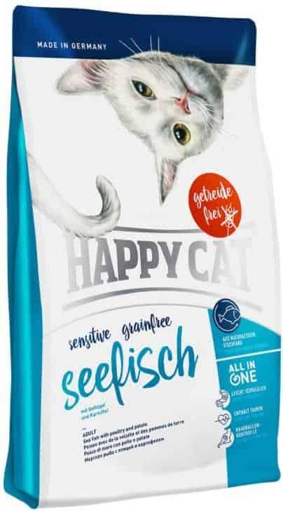 """הפי קט סנסטיב דגי ים לחתול 4 ק""""ג"""