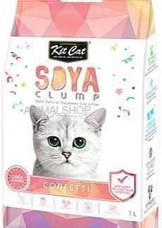 מבצע 9 יח' חול מתגבש קיט קט לחתול על בסיס סויה בריח קונפטי 7 ליטר