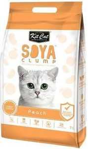 חול מתגבש קיט קט לחתול על בסיס סויה בריח אפרסק 7 ליטר