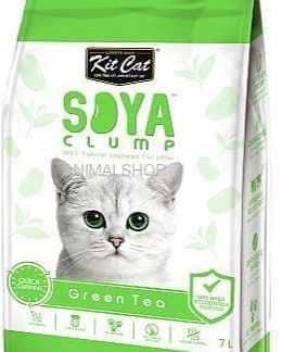 חול מתגבש קיט קט לחתול על בסיס סויה בריח תה ירוק 7 ליטר