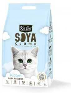 חול מתגבש קיט קט לחתול על בסיס סויה בייבי פאודר 7 ליטר