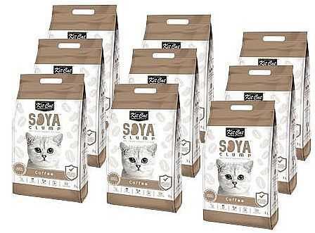 מבצע 9 יח' חול מתגבש קיט קט לחתול על בסיס סויה בריח קפה 7 ליטר