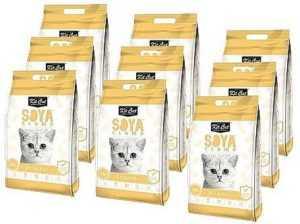 מבצע 9 יח' חול מתגבש קיט קט אוריגינל לחתול על בסיס סויה 7 ליטר