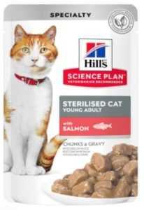 הילס פאוץ' סטרילייז סלמון לחתול 85 גר'