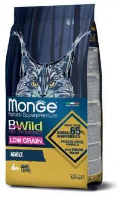 """מונג' בי ווילד ארנבת 1.5 ק""""ג לחתול"""