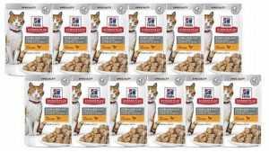 מבצע 12 יח' הילס פאוץ' סטרילייז עוף לחתול 85 גר'