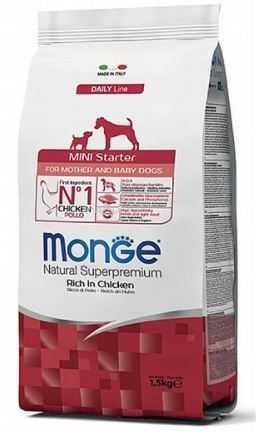 """מונג' גורים מיני סטרטר עד גיל חודשיים לכלב 1.5 ק""""ג"""