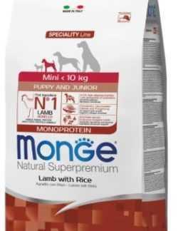 """מונג' גורים גזע קטן כבש ואורז לכלב 2.5 ק""""ג"""