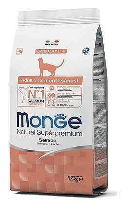 """מונג' סלמון לחתול 1.5 ק""""ג"""