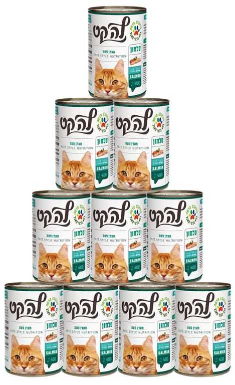 מבצע 24 יח' שימור פטה לחתולים לה קט סלמון 400 גר'