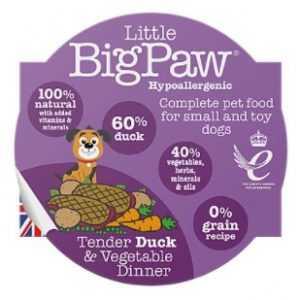 ליטל ביג פאו - ברווז וירקות 85 גרם לכלב