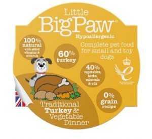 ליטל ביג פאו - הודו וירקות 85 גרם לכלב
