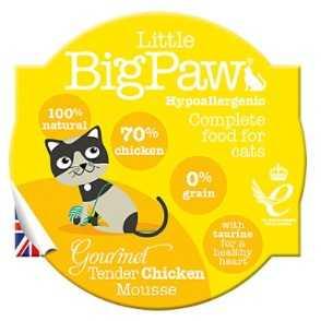 ליטל ביג פאו מוס עוף לחתולים 85 גרם