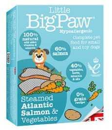 ליטל ביג פאו - סלמון וירקות 150 גרם לכלב