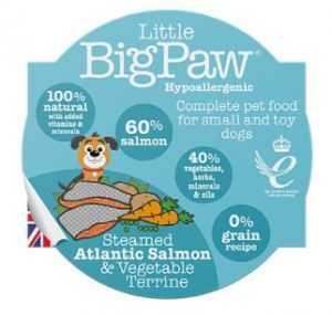 ליטל ביג פאו - סלמון וירקות 85 גרם לכלב