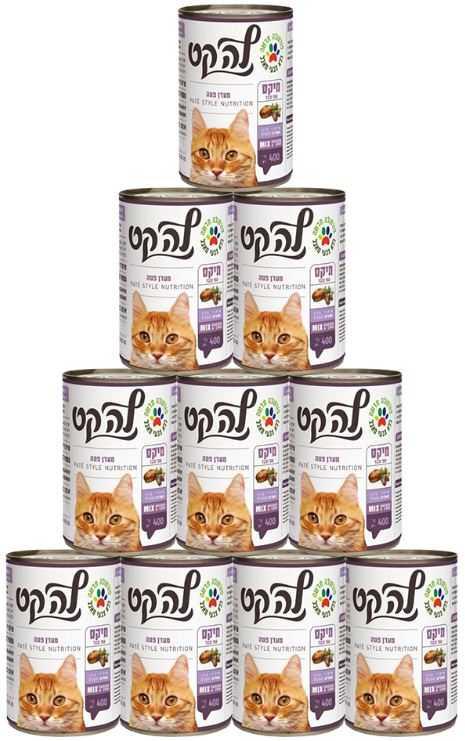 מבצע 24 יח' שימור פטה לחתולים לה קט מיקס 400 גר'
