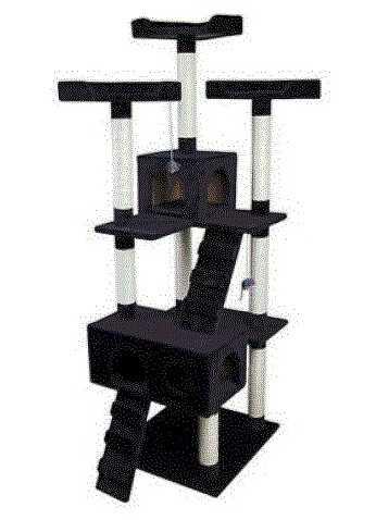 """מתקן גירוד לחתולים גובה 178 ס""""מ (שחור) AMERICAN PAW QQ80038A"""