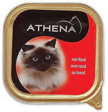 שימורים לחתול אתנה בקר 100 גר׳