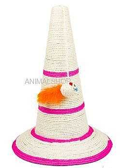 קונוס גירוד לחתולים + צעצוע על חבל 3 צבעים