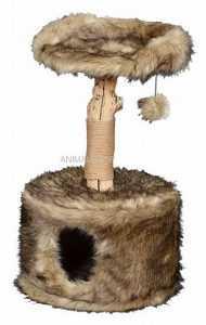 """פטקס מתקן גירוד לחתולים עץ מלא גובה 88-78 ס""""מ HY18341"""