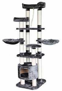 """מתקן גירוד לחתולים פטקס 4 קומות גובה 160 ס""""מ PS117"""