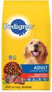 """אוכל לכלבים פדיגרי בקר וירקות 15 ק""""ג"""