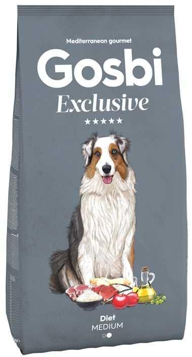 """גוסבי לייט מופחת שומן גזע בינוני עוף לכלב 12 ק""""ג"""