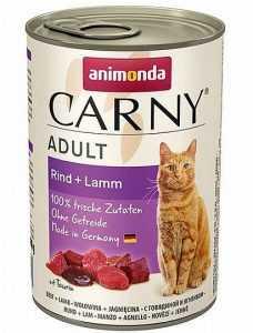 שימור לחתול אנימונדה קרני בקר וכבש 400 גר'