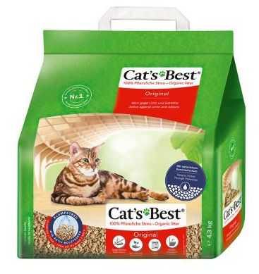 """חול מתגבש לחתול מעץ קט בסט אדום 4.5 ק""""ג"""