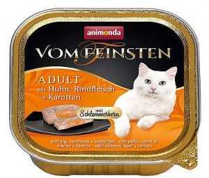 שימור פטה לחתול אנימונדה עוף בקר וגזר 100 גר'
