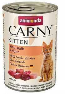 שימור גורים לחתול אנימונדה קרני בקר עגל ועוף 400 גר'