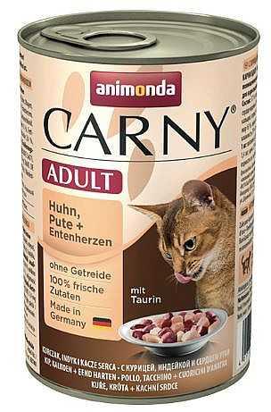 שימור לחתול אנימונדה קרני עוף הודו ולבבות ברווז 400 גר'