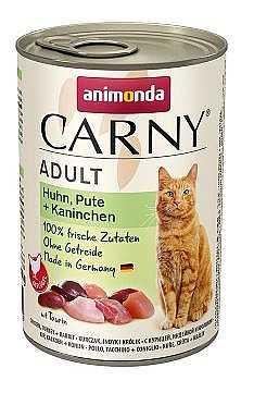 שימור לחתול אנימונדה עוף הודו וארנבת 400 גר'