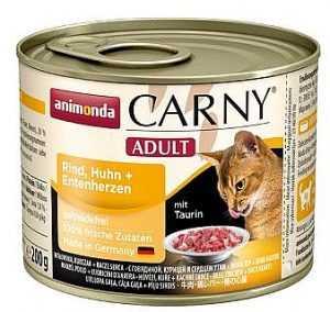 שימור לחתול אנימונדה קרני בקר עוף ולבבות ברווז 200 גר'
