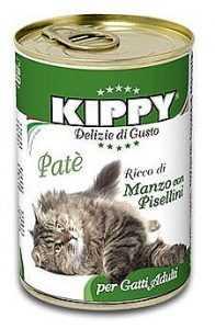 שימור לחתול קיפי בקר ואפונה 400 גר'