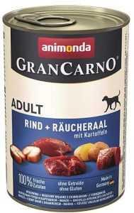"""שימור לכלב אנימונדה גרנקארנו בקר צלופח ותפו""""א 400 גר'"""