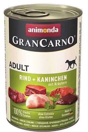 שימור לכלב אנימונדה גרנקארנו בקר ארנבת וצמחי מרפא 400 גר'