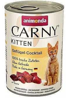 שימור גורים לחתול אנימונדה קרני קוקטייל עוף 400 גר'
