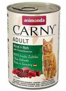 שימור לחתול אנימונדה קרני בקר אייל וחמוציות 400 גר'