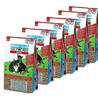 """מבצע 6 יח' חול מתגבש לחתול מעץ קט בסט אדום 4.5 ק""""ג"""