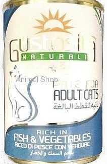 גוסטוסיטה לחתולים פטה דג וירקות 400 גר'
