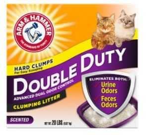 """חול מתגבש מבושם לחתול ארם אנד המר דאבל דיוטי 12 ק""""ג"""