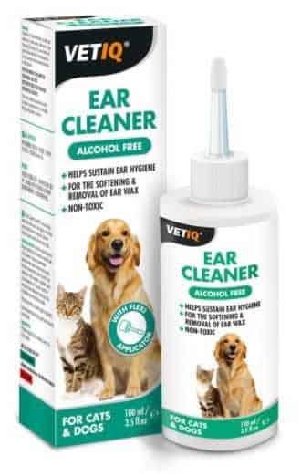 """נוזל לניקוי אוזניים לכלב וחתול VET-IQ בנפח 100 מ""""ל"""