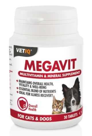 מולטי ויטמין לכלב וחתול מגה ויט VET-IQ