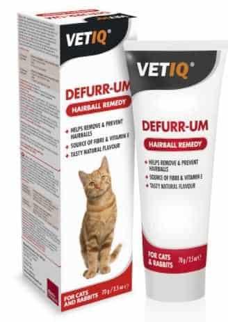 משחה לחתול למניעת כדורי שיער VET-IQ היירבול 70 גר'
