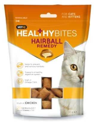 חטיף לחתולים VET-IQ היירבול למניעת כדורי שיער 65 גר'