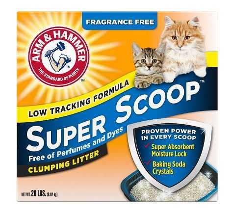 """חול מתגבש לחתול ללא בישום סופר סקופ ארם אנד המר 9 ק""""ג"""