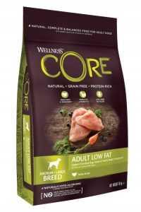 """וולנס קור מופחת שומן גזע בינוני וגדול לכלב 10 ק""""ג אולטרה הוליסטי"""